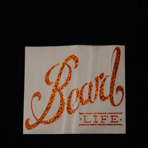 Image of Classic Logo Beard Life Sticker - Orange Sparkle