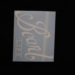 Image of Classic Logo Beard Life Sticker - White