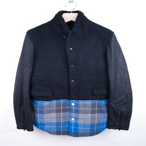 Image of Number (N)ine - FW05 Boiled Wool Combo Jacket