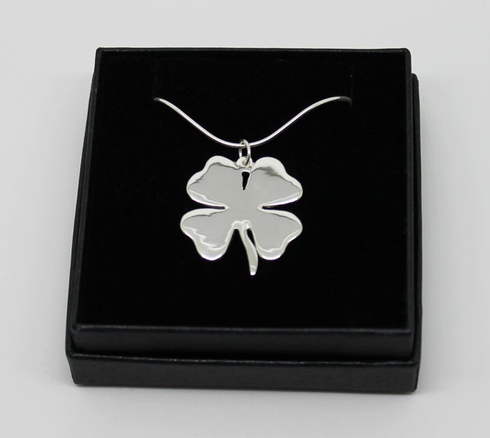 Image of Shamrock Necklace - Sterling Silver