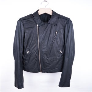 Image of Rick Owens - Kangaroo Stooges Leather Jacket