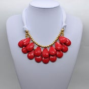 Image of Red Teardrop Necklace