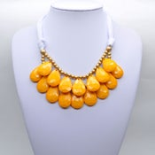 Image of Golden Yellow Teardrop Necklace