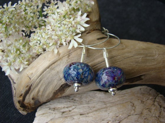 Image of Amorouscharms Purple Passion   Large Lampwork Earrings S/S