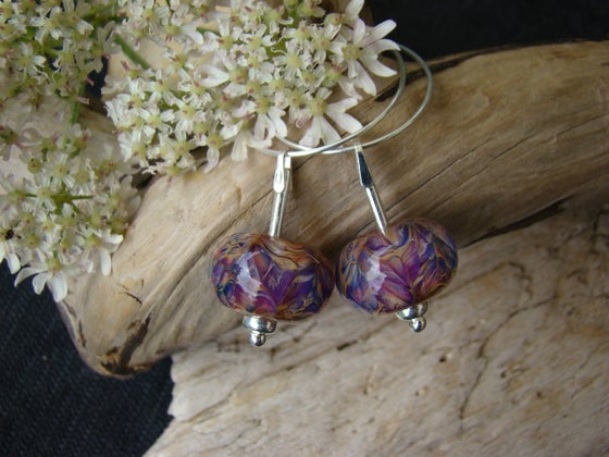 Image of Amorouscharms   Pink Flush Large Lampwork Earrings S/S