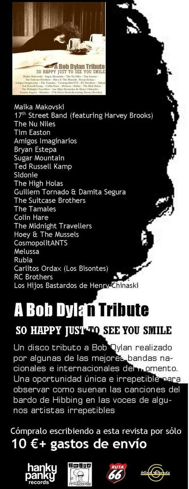 Image of A Bob Dylan Tribute - So Happy Just to See You Smile CD/Digipack