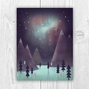 "Image of ""Northern Lights"" Holiday Card"