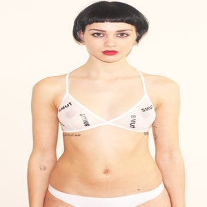 Image of SMU† mesh bra (white)