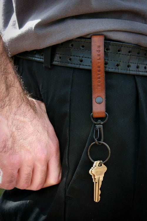 Image of Brown Leather Key Fob