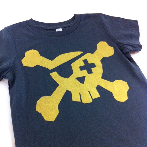 Image of Pirate T-shirt - Gold on Dark Grey