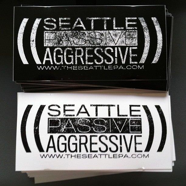Image of Seattle Passive Aggressive Sticker