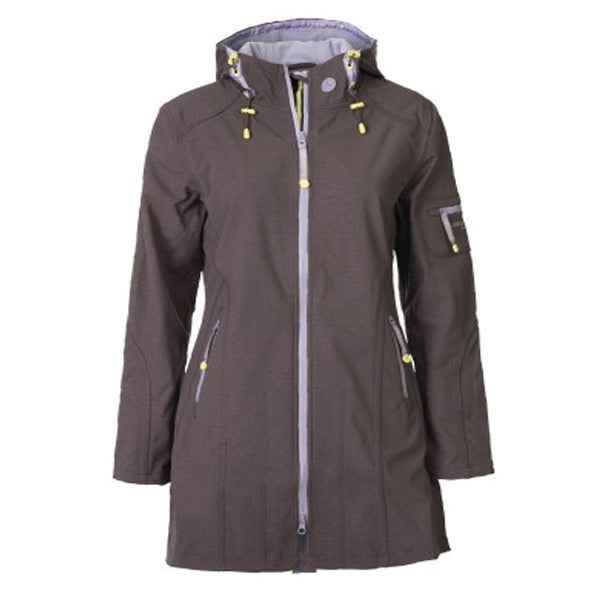 Image of Ilse Jacobsen 3/4 Length Raincoat - Prune/Lavender