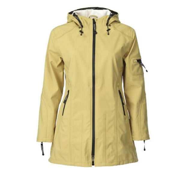 Image of ILSE JACOBSEN 3/4 LENGTH RAINCOAT - Olive