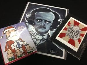Image of Holiday Bundle #2 -CHOOSE- 1 Christmas Card pk, 1 Giclee Print, 1 Mini Print