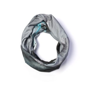 Image of December Grey Skinny Statement Scarf