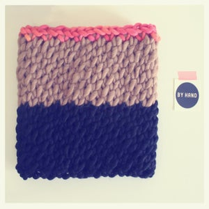 Image of neapolitan color blocked cowl