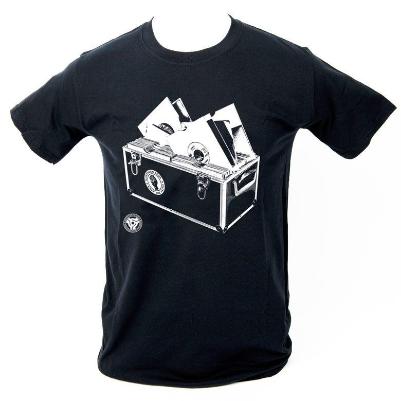 Image of 'Record Box' T-Shirt - Black.