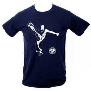 Image of 'High Kick' T-Shirt - Navy Blue.