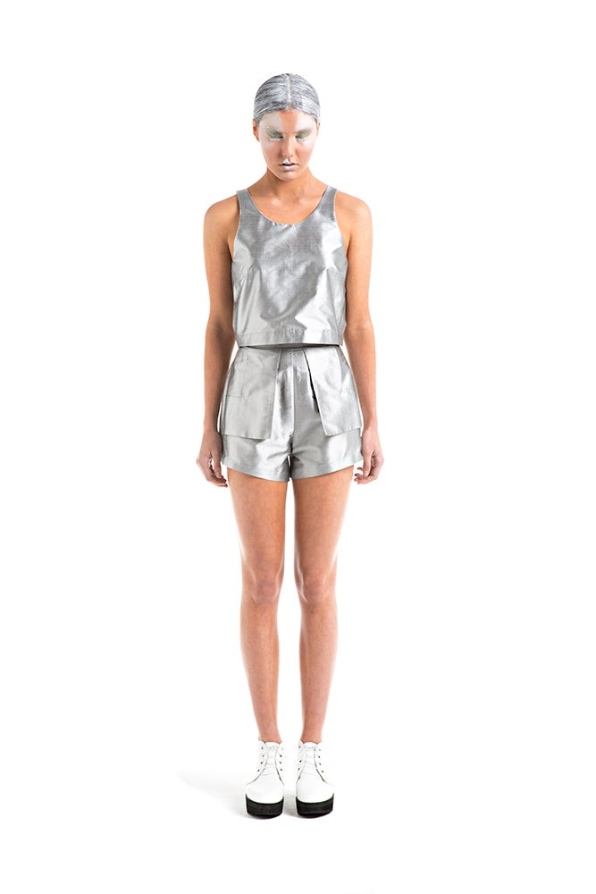 Image of Outer Pocket Short - Silver Silk