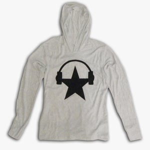 Image of Long Sleeve Starphones Hooded Tee (GUYS)