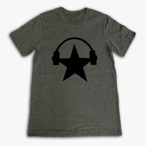 Image of Grey & Black Starphones Tee (UNISEX)