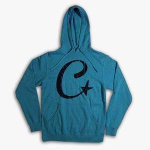 Image of Teal C-Star Pullover Hoodie (UNISEX)