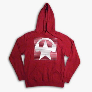 Image of Red Star Stripe Pullover Hoodie (UNISEX)