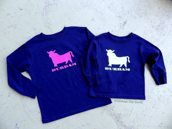 Image of Bull Icon toddler long sleeve tee