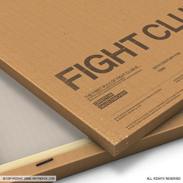 Image of Fight Club Poster with brands (10 copies only)
