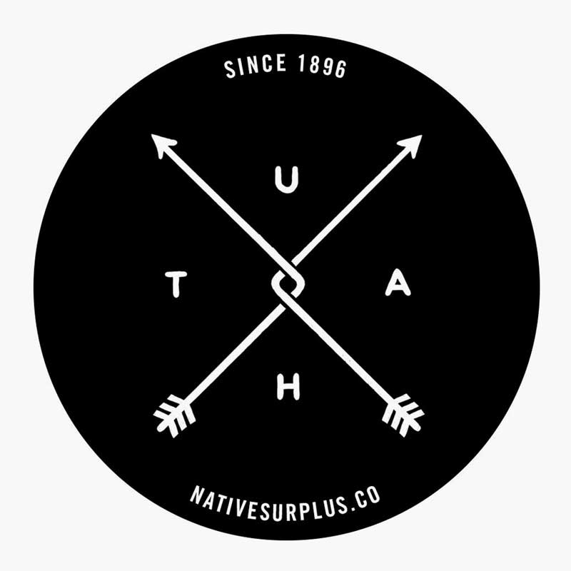 Image of Utah Bent Arrow Sticker - Pack of 3