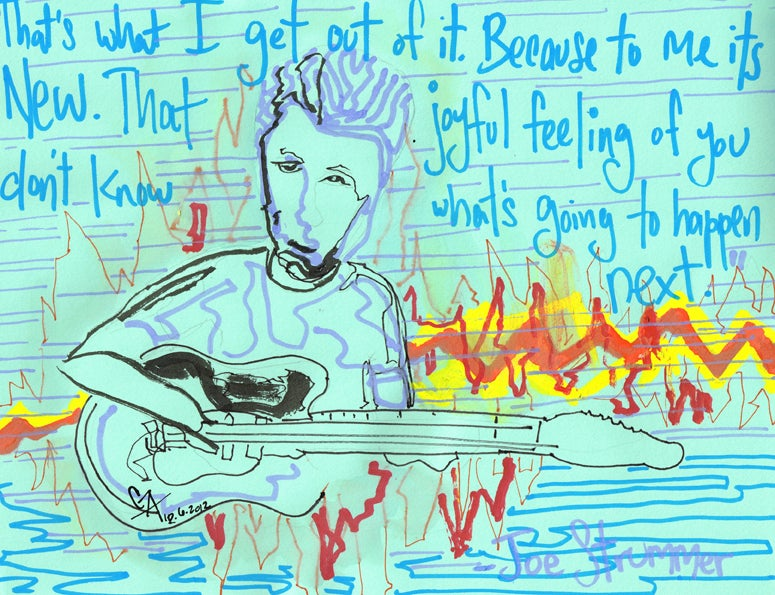 Image of Joe Strummer - You don't know what's going to happen