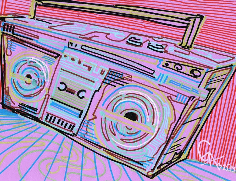 Image of Pink Boom Box - SOLD