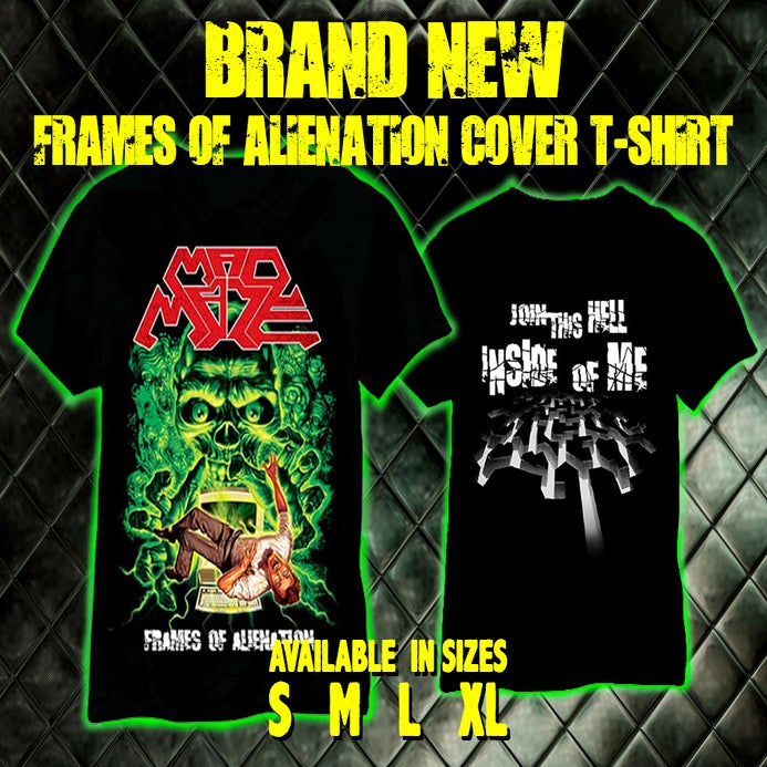 "Image of Brand New!!!!  ""Frames of Alienation"" cover T-SHIRT"