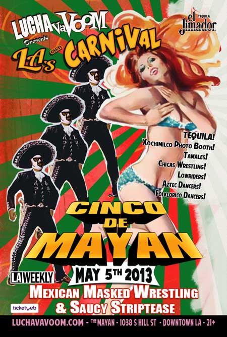 Image of Lucha VaVOOM Cinco de Mayan 2013 poster
