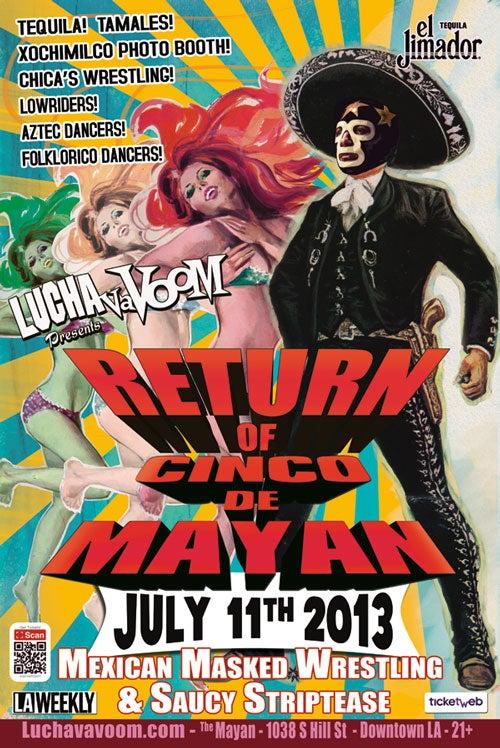Image of Lucha VaVOOM Return of Cinco de Mayan 2013 poster