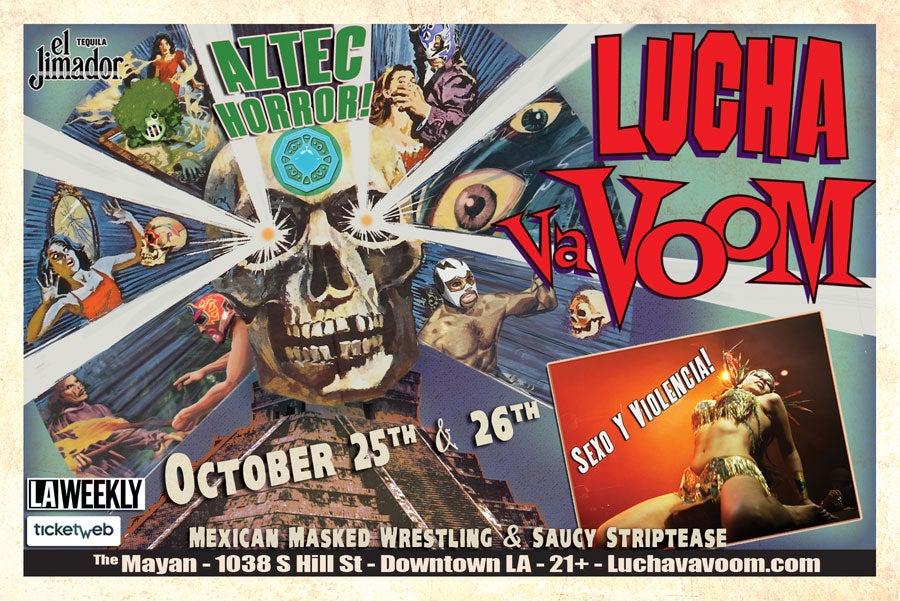 Image of Lucha VaVOOM poster Halloween 2012
