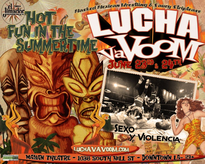Image of Lucha VaVOOM poster 24