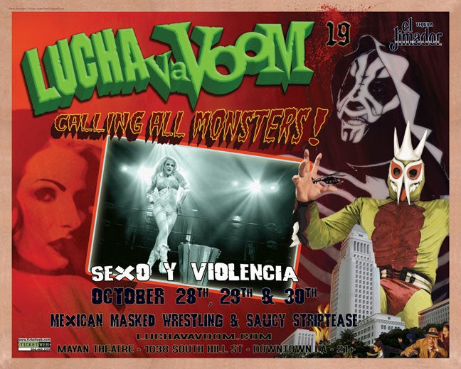 Image of  Lucha VaVOOM poster 19