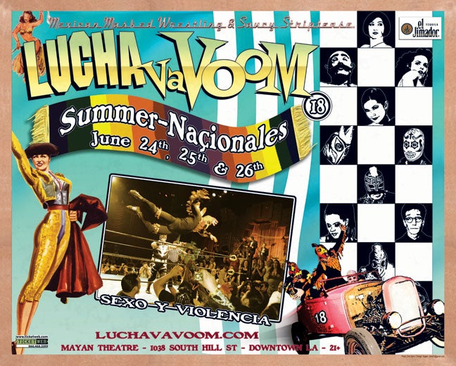 Image of Lucha VaVOOM poster 18