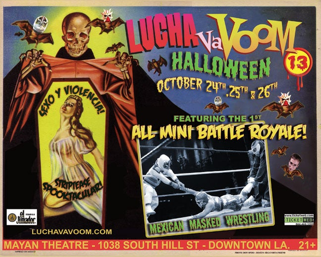 Image of  Lucha VaVOOM poster 13