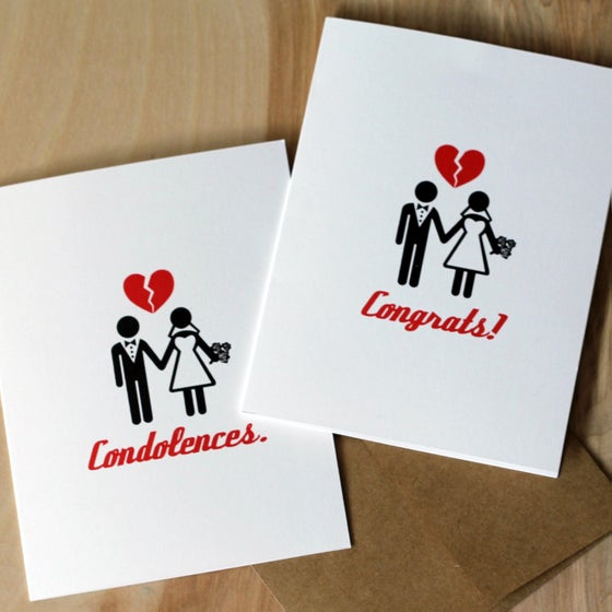 Image of His and Her's Divorce Cards
