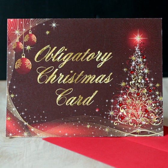 Image of 5 pack Obligatory Christmas Card
