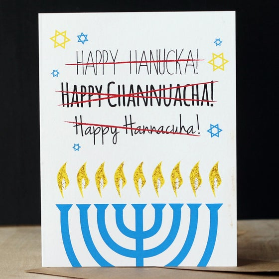 Image of 5 pack Hanukkah Card