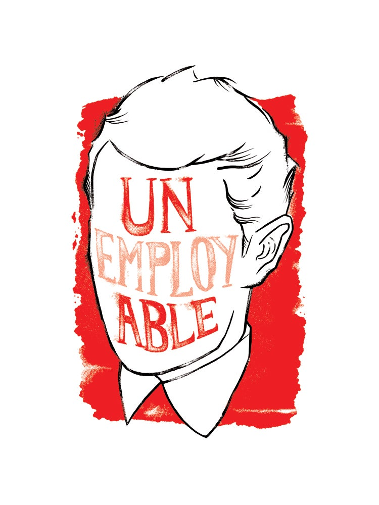 Image of UNemployABLE Unisex RED T-shirt