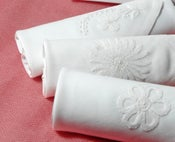 Image of Set of III embroidered White Ladies Hankie