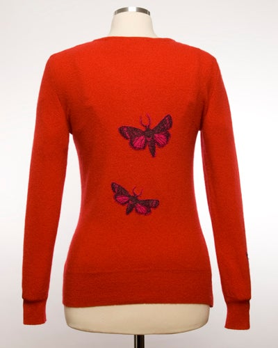 Image of The Bella Moth Cashmere Sweater - Red & Pink