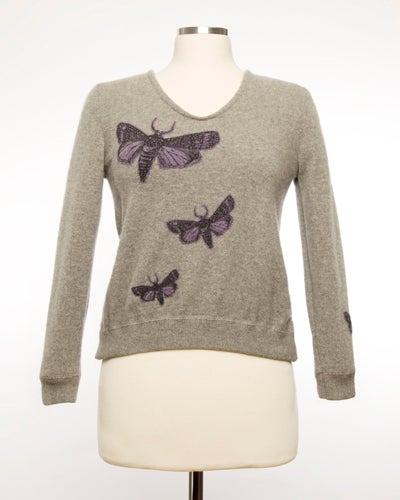 Image of The Bella Moth Sweater - Grey & Purple
