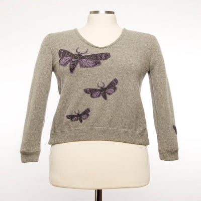 Image of The Bella Moth Sweater - Grey & Purple