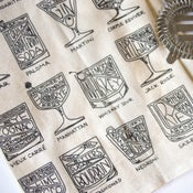 Cocktail Diagram Tea Towel
