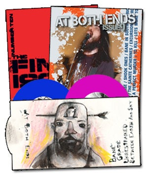 Image of At Both Ends zine w/ 2 x 7""